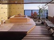 客室露天風呂(檜)