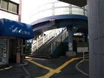 8. メトロ日比谷線南千住駅南出口を出て左側の歩道橋を渡ってください