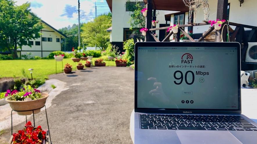 お庭での無線LAN