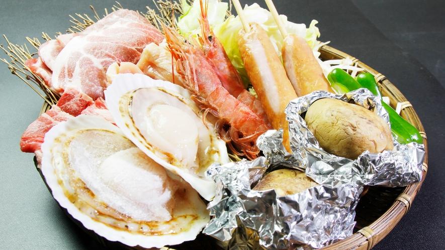 ◆BBQ食材一例 南房総ならではの海産物もお楽しみください!