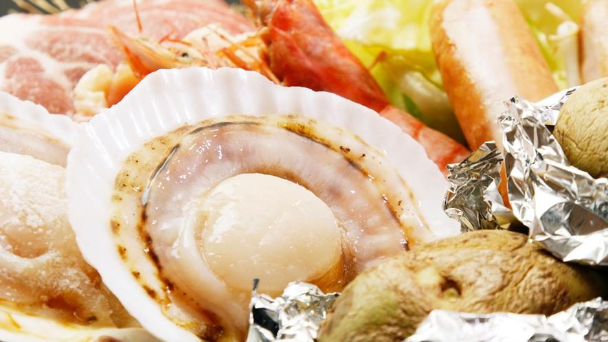 ◆BBQ食材一例 魚介たっぷりBBQをお楽しみください!