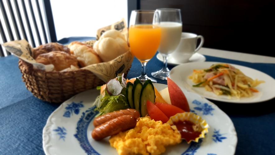 お一人盛りの朝食一例