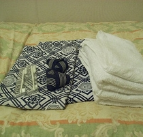 浴衣とバスタオル