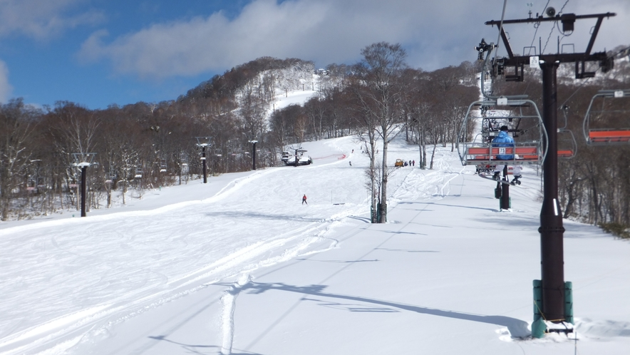 緩斜面が多いたんばらスキーパーク