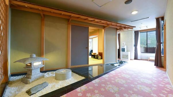 新館 貴賓室【平成】露天風呂付 ツイン+12畳【喫煙可】