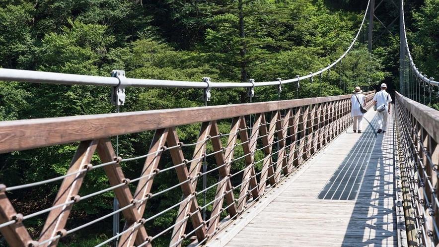七ツ岩大吊橋/ホテルから車で約2分