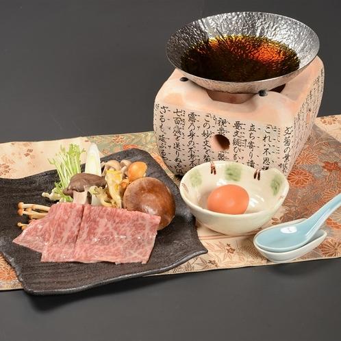 6種のきのこと那須野ヶ原牛のすき鍋