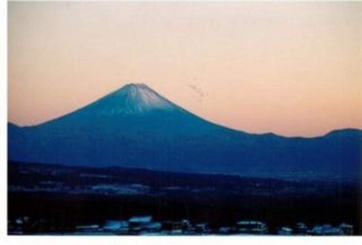 夕景の富士山