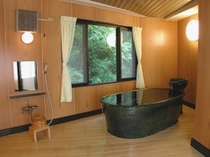 温泉付特別室のカメ風呂温泉