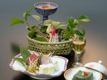 健康食材懐石料理例2 ヤマメ