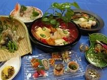 健康食材懐石料理例4 笑顔の食事