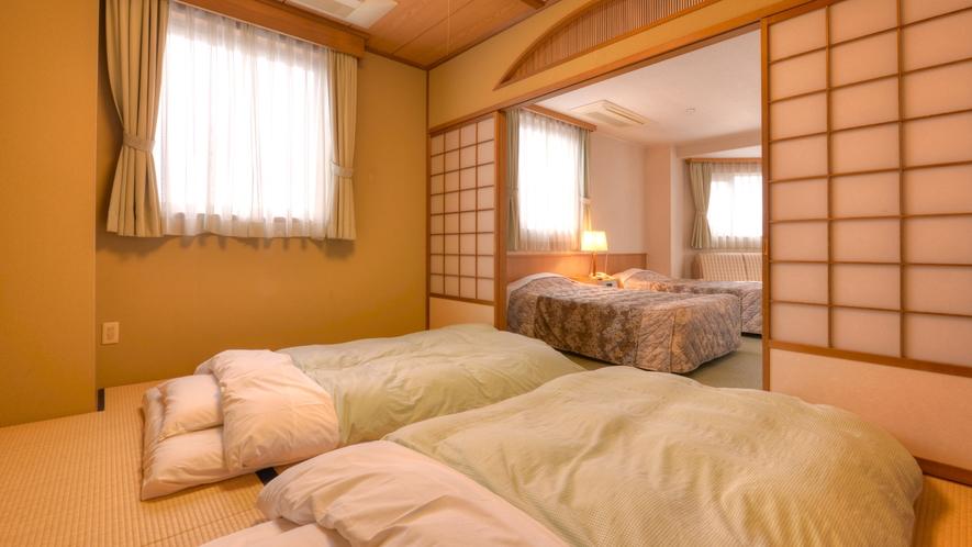 *和洋室(客室一例)/和と洋、両方の良さを味わえるお部屋。広々としたお部屋でのんびりお寛ぎ下さい。