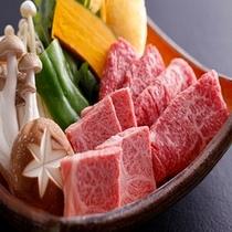 游山鍋の飛騨牛しゃぶ・焼肉
