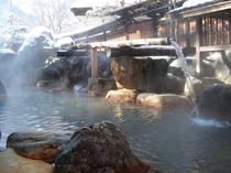 大露天風呂山伏の湯(冬)