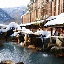 雪の高塀付露天風呂「山伏の湯」
