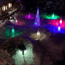 冬の庭園ライトアップ