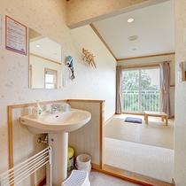 *和室/洗面台やトイレには子ども用の便座もあります。