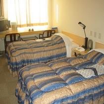 ツインルーム(一例) ツインルームは全4室となります