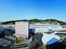 JR九州ホテル熊本 外観 お昼