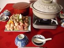 寄せ鍋とご飯