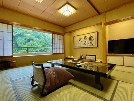 【禁煙:9階】川側 最上階・露天風呂付客室(154平米)