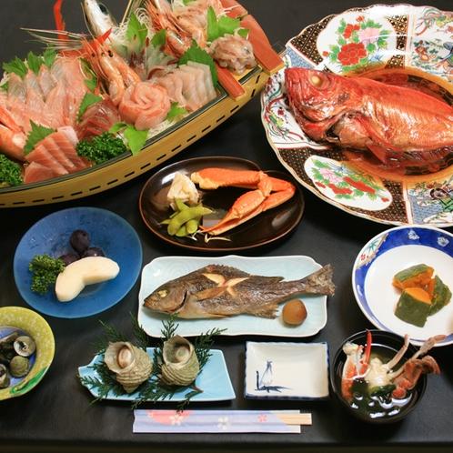料理全体_舟盛+金目鯛600