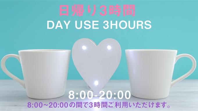 【日帰り3時間限定/2名様利用】【カップル】VOD付きデイユース・テレワークプラン