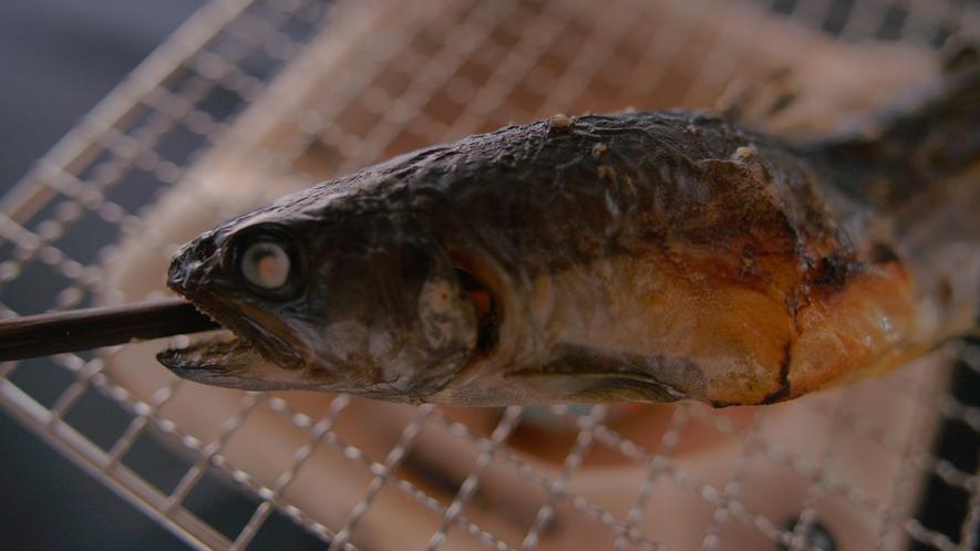 別注メニュー【岩魚の塩焼き】絶妙な焼き加減と脂ののった白身がふっくら美味しい♪一串770円