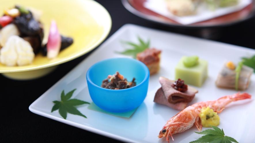 山梨のブランド食材をメインに使用した創作会席です。