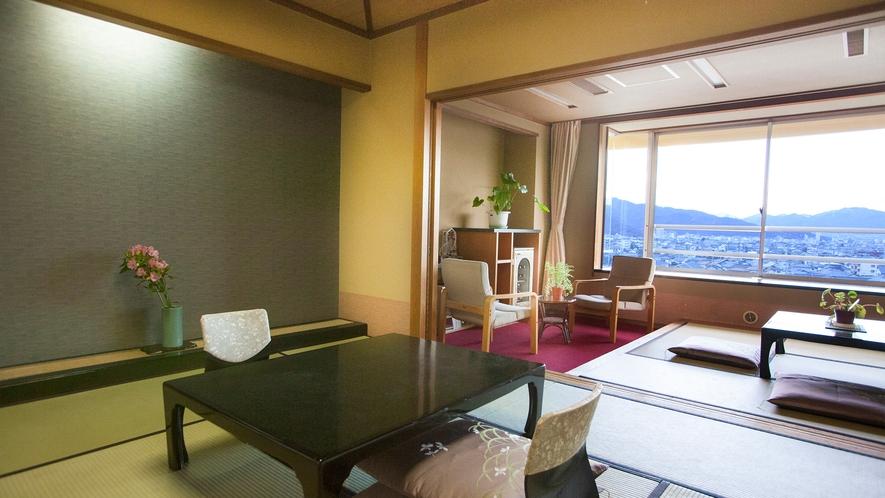 絶景と寛ぎを満喫できる眺望自慢のお部屋です。