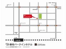 JR藤枝駅からの地図
