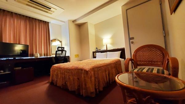 ダブル禁煙室 お部屋広々18平米 ベッド幅 140cm