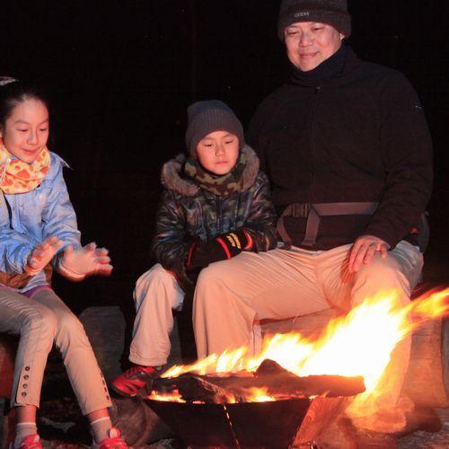 テンゲルの新名物〜焚き火(3)