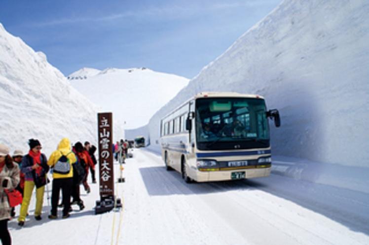 雪の大谷ウォーク(4〜5月)