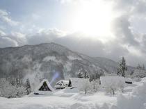 五箇山全景(冬)