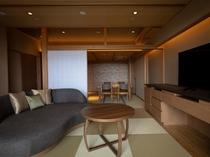 【別墅 結楽|大空】銀泉露天風呂付和洋室 (90㎡)