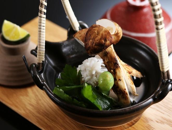 松茸と淡路産鱧の土瓶蒸し