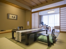 【ハイクオリティ:和洋室】贅沢な造りの北館は落ち着きのある和室と洋室で上品な空間に仕上げております