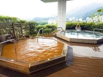 【展望大浴苑:雲海】有馬の名湯と丹波の山々を見晴らせる絶景が一度にお楽しみ頂けます
