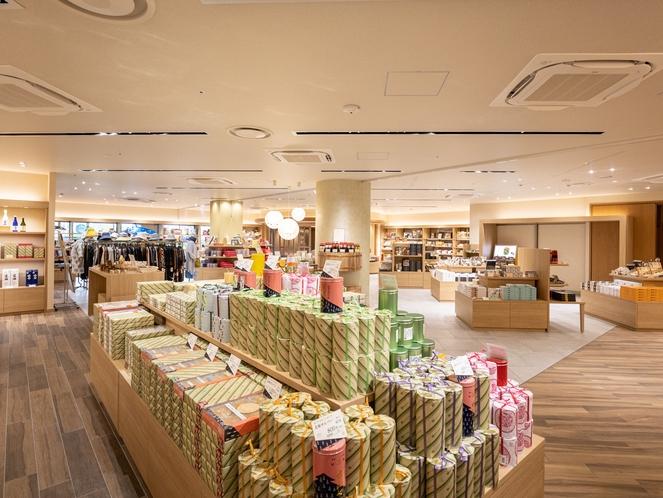 【売店】有馬のものはもちろんのこと、神戸のものや、近郊のものなど、幅広い品揃えをしております。