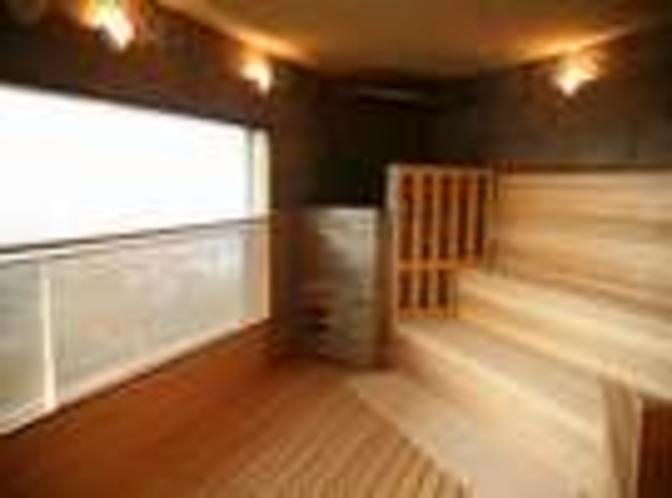 【雲海:サウナ室】たっぷり汗をかいてお風呂上りにおいしい黒豆茶をお召し上がりください。(無料)