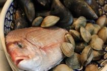 夕食 鮮魚の一例