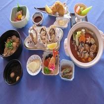昼食 牡蠣鍋