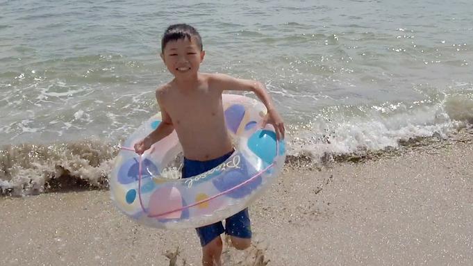 【千鳥ヶ浜海水浴場★徒歩0分!】ひぇひぇ生ビール&花火付き♪水着で浜辺へ飛び出そう!