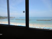 客室より海が目の前