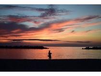 千鳥ヶ浜の夕景①