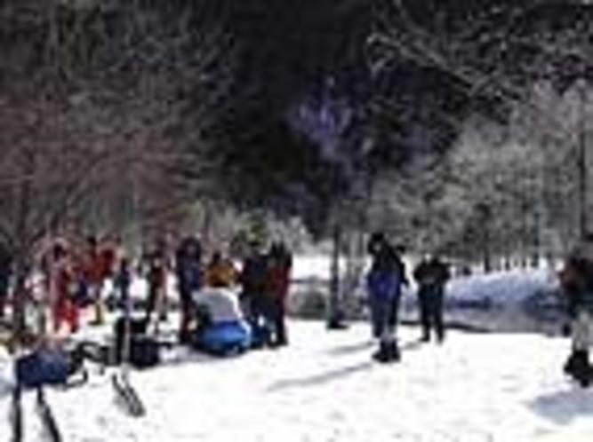 田代湿原にてスノートレッキング