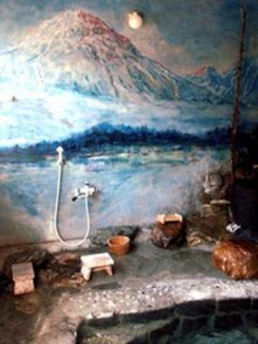 隠しの湯壁画焼岳