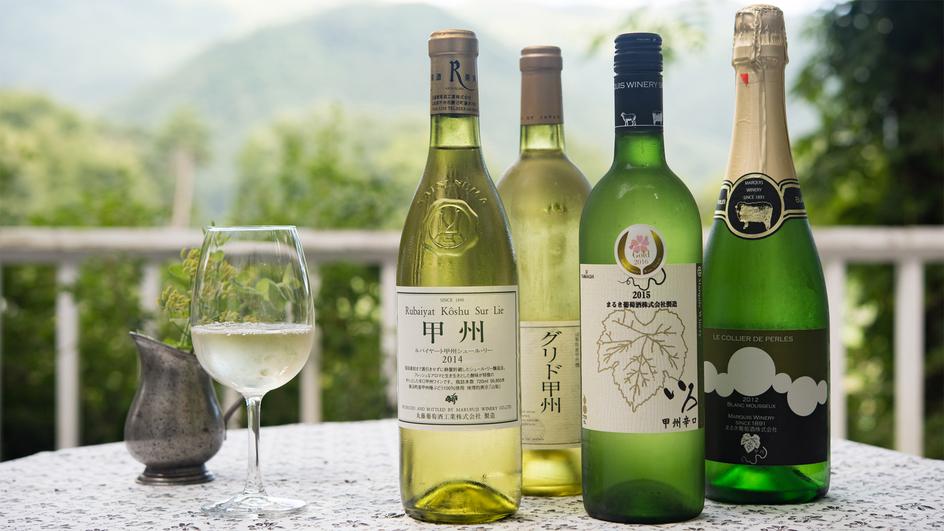 *【ドリンク(ワイン)】山梨をはじめ地域産ワインもお食事とご一緒にお楽しみください。