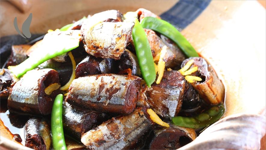 【朝食】さんまの黒酢煮